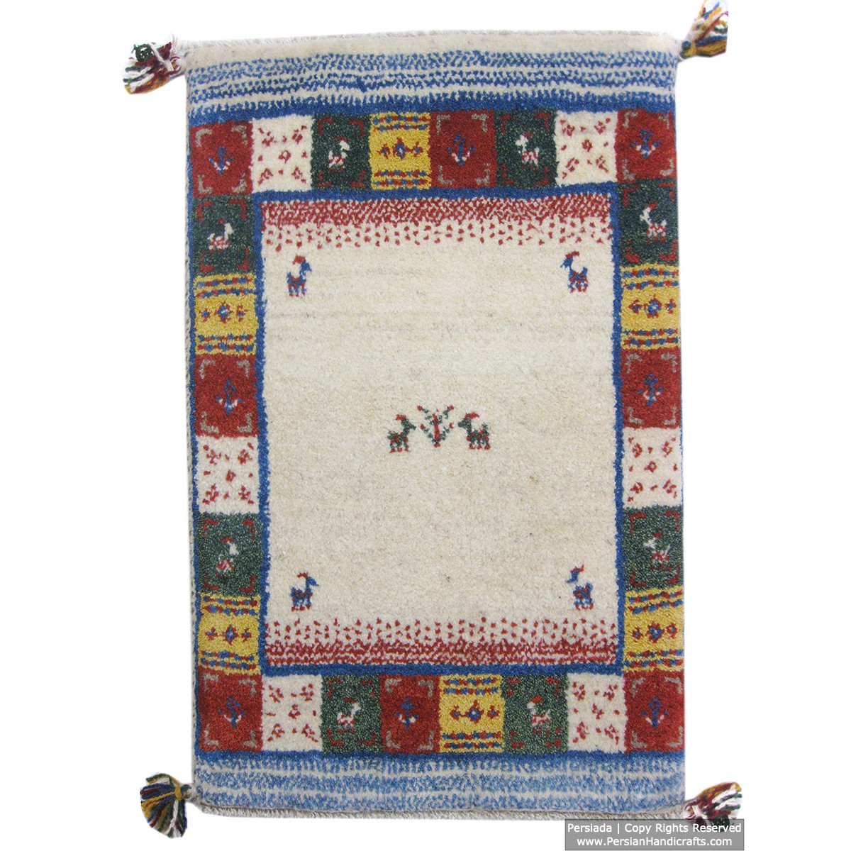 Gabbeh Wool Rug from Persian Ghashghai Nomads - RG5025-Persian Handicrafts