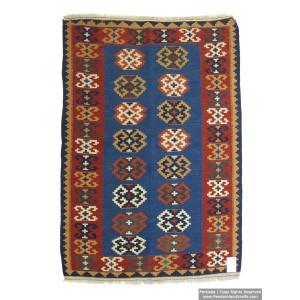 Medalion Design Persian Kilim Rug  -  RK5011-Persian Handicrafts