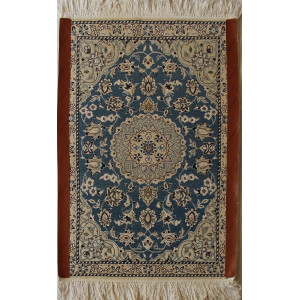 Nain Persian Wool & Silk Rug -  PRN1005-Persian Handicrafts