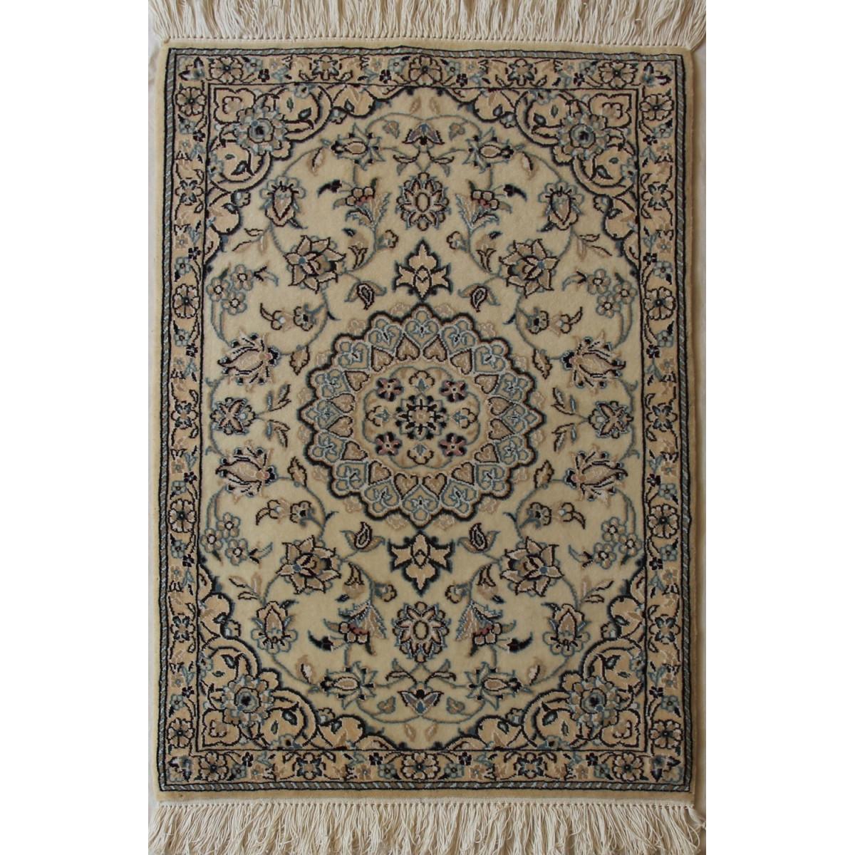Nain Persian Wool & Silk Rug - PRN1009-Persian Handicrafts