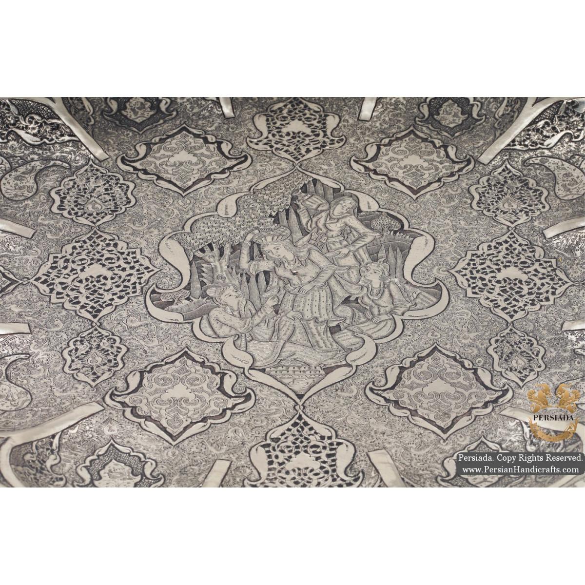 Luxurious Wall Plate   Multi Dimensional Handgraved Ghalamzani   PHGL506-Persian Handicrafts